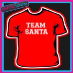 TEAM SANTA CHRISTMAS TSHIRT CHILDRENS MENS & LADIES SIZES